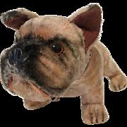 Maruei Toys - Tokyo Japan, Mohair Bull Dog with label