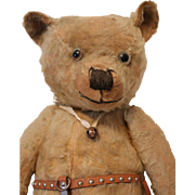 Early Well Loved Teddy Bear, 25 1/2 inches tall
