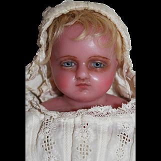 A Fine Antique Pierotti Poured Wax Child Doll, English 1870's