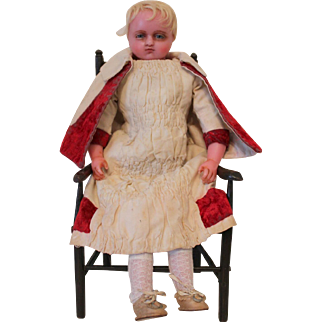 Antique Pierotti Poured Wax Doll, English 1870's, 18 inches