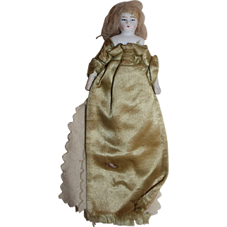 A Victorian Dolls House Doll as an Amusing Needle Case, All Original, 7 inches with dress