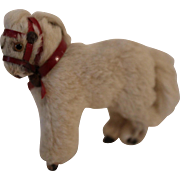 Adorable Miniature White Fur Horse Pony, perfect for Dolls House or All Bisque dolls pet