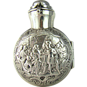 An antique Victorian silver cased perfume bottle, 1897.