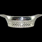 An Antique Silver Pierced Pin Dish, 1904.