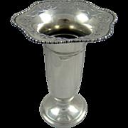 A George V, Silver Flower Vase, 1919.