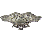 A Stunning Victorian Silver Fruit Bowl, 1891