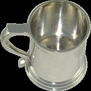 An Antique Silver Half Pint Tankard, 1915.