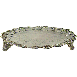 A Victorian Silver Salver, 1885.