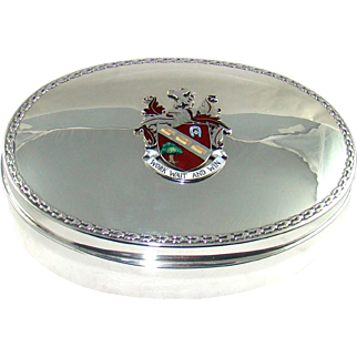 A George V Jewellery Box With An Enamelled Coat Of Arms, 1919.