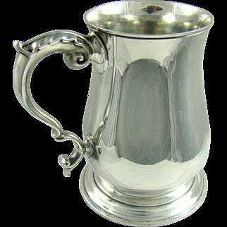 A Vintage Silver Pint Tankard, 1955.