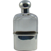 A Victorian Silver Mounted Cut Glass Hip Flask By Asprey, 1897.