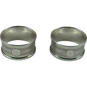 A Pair Of George V Silver Napkin Rings, 1930