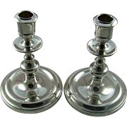 A Pair Of Vintage Silver Candlesticks, 1962