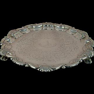 A Victorian Silver Salver, 1861.