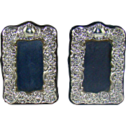 A Small Pair Of Vintage Silver Photo Frames, 1996.