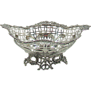 A Small Antique Silver Bon Bon Bowl, 1890.