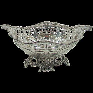 A Small Antique Silver Bon Bon Bowl, 1890.