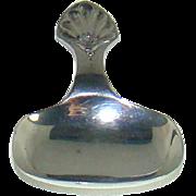A Very Small Antique Silver Tea Caddy Spoon, 1909.