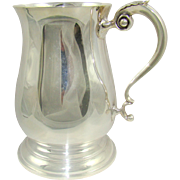 A Vintage 50 Year Old Silver Pint Tankard, 1966