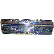 A Vintage Silver Edged Comb In A Silver Case.
