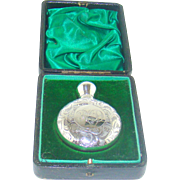 An Antique Silver Cased Perfume Bottle, 1905