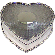 An Antique Silver Heart Shaped Box, 1904