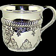 A Small Antique Silver Christening Mug, 1902