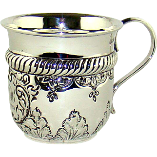 A Small Antique Silver Christening Mug, 1902