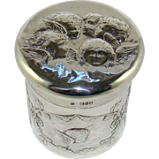 A Large Late Victorian Silver Dressing Table Pot, 1897.