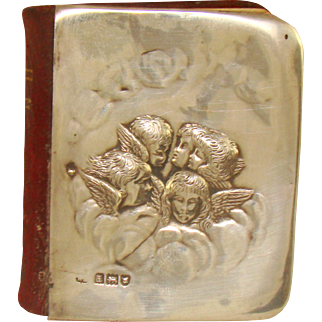 An Antique Silver Covered Miniature Book Of Common Prayer, 1904.