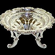 A Good Quality Antique Silver Fruit Bowl, 1906.