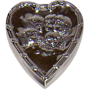 A Distinctive And Appealing, Victorian Silver, Heart Shaped Box, 1897.