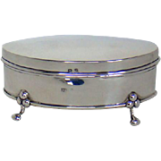 A Small Antique Silver Jewellery Box, 1908.