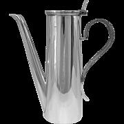 A Victorian Silver Coffee Pot Designed For One Person,1896.