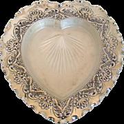 An Intriguing, Antique Silver, Heart Shaped Butter Dish, 1876.