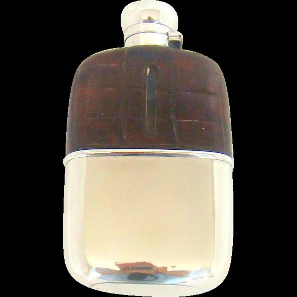 A George VI, Stylish And Impressive, Silver And Crocodile Skin Mounted Hip Flask, 1938
