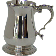 A Heavy Good Quality Silver Pint Tankard, 1965.
