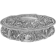 An Antique Victorian Silver Trinket Box, 1895