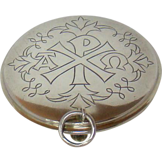 A Vintage Silver Box, For Holding Communion Wafers, 1940.