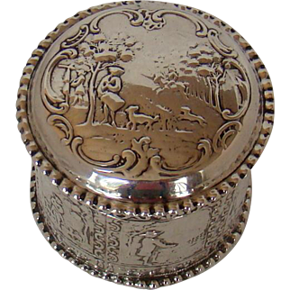 A Dutch Silver Tidy Box For A Dog Lover, c1900.