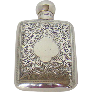 A Victorian Silver Perfume Bottle, 1896.