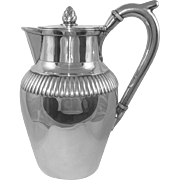 A Large George III Antique Silver Water Jug, 1803.