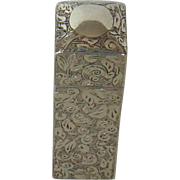 A Victorian Silver perfume Bottle, 1895.