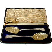 An Antique Pair Of George III Silver Serving Spoons, 1809.