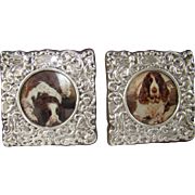 A Pair Of Vintage Silver Picture Frames, 1941.
