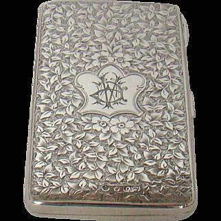 An Antique Silver Purse, 1883.