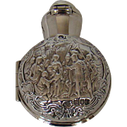 A Victorian Silver Cased Perfume Bottle,1898.