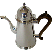 An Antique Silver, Queen Anne Style Coffee Pot, 1909