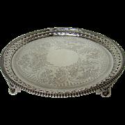 A Distinctive Antique Silver Salver/Tray, 1880,