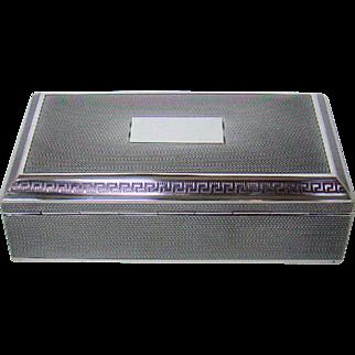 A Vintage Silver Cigarette Box, 1946.
